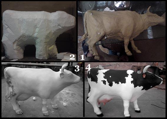 مراحل ساخت اولین گاوی که ساختم